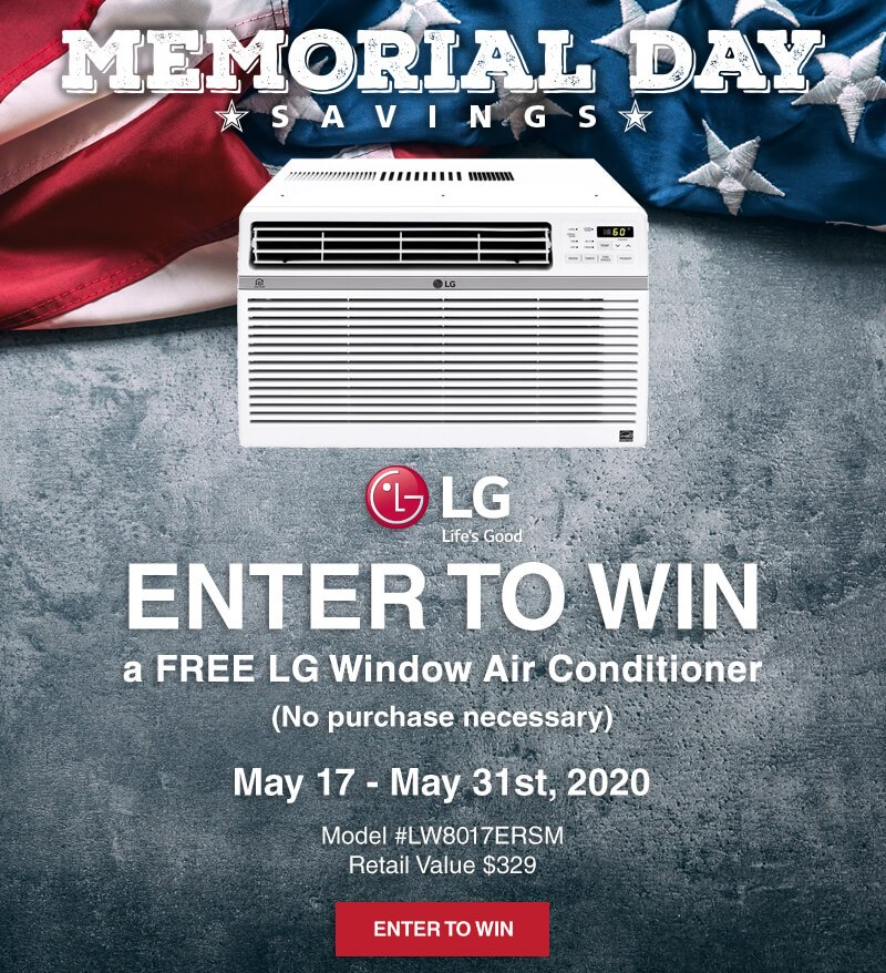 Enter to win a FREE LG Window Air Conditioner